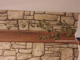 painted stone wallStone painting