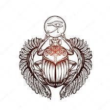 ᐈ скарабей тату векторные изображения рисунок татуировка