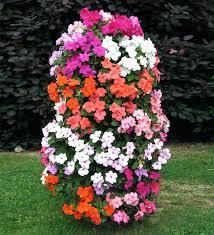 diy flower bed ideas vertical flower garden tower easy flower bed ideas