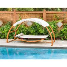 leisure season wooden swing bed with