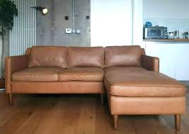 tan leather sectional modern tan leather sectional sofa west elm couch 2 piece chaise sienna tan