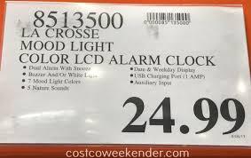 deal for the la crosse mood light alarm clock model c85135 at costco