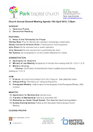 Ministry Meeting Agenda Template Free Baptist Church Meeting Agenda Templates At