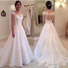 western wedding dresses. Discount 2017 Western Bridal Dresses A Line Tulle Appliques Lace