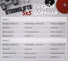 stronglifts 5x5 workout best strength