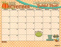 November 2015 Calendar Thanksgiving Printable Happy Easter