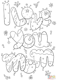 I Love You Mommy Coloring Page For Kids Pages Printables New ...