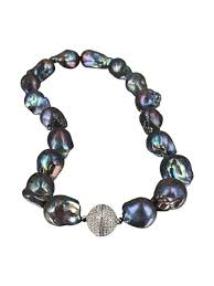 pacific pearls polynesia collection black 15 20mm giant baroque pearl necklace