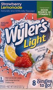 Wyler S Light Strawberry Lemonade Ingredients Wylers Light Strawberry Lemonade Singles To Go 8 Packets Each Box 4 Boxes