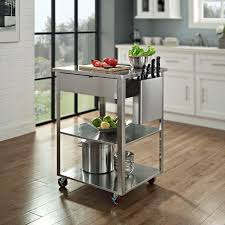 stainless steel kitchen cart with drawer
