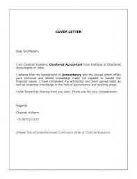 Cover Letter For Chartered Accountant Cover Letter Chartered Accountant Articleship Cover Letter Cover