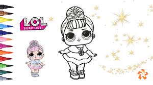 Lol Surprise Crystal Queen How To Color Baby Doll Surprise