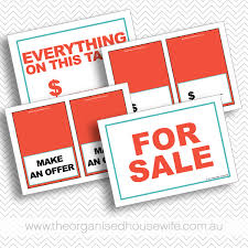 sale signs printable garage sale signs checklist tags and more the organised