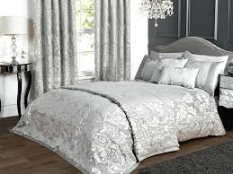 grey double bedding deluxe jacquard damask double bedspread in grey grey double bedding argos