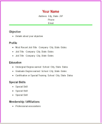 examples of a simple resume simple resumes examples computer software skills resume examples