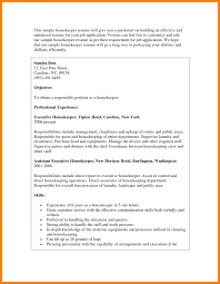 Housekeeper Resume Brilliant assistant Executive Housekeeper Resume format In 51