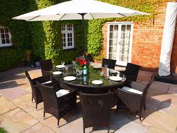 garden dining furniture rattan. royal grey rattan dining set large oval table with lazy susan and 8 carver chairs: amazon.co.uk: kitchen \u0026 home garden furniture