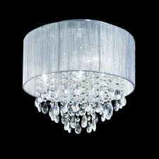 franklite royale 4 light flush with silver shade and crystal fl2281 4 crystal chandelier best 100cm