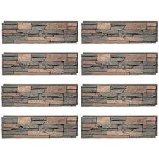 stacked stone stratford 12 in x 42 in faux stone siding half panel