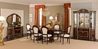Luxor Bedroom Furniture Luxor Dining Room Set In Mahogany Lacquer Finish By Camelgroup
