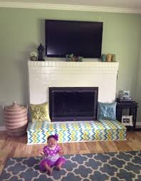baby proofing fireplace diy fireplace bench cut plywood to fit and cover with memory