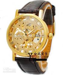 luxury watches artificial 18k gold mens men s transparent luxury watches artificial 18k gold mens men s transparent automatic sports watches leather bracelet online 57 15 piece on chanel watch watch s store