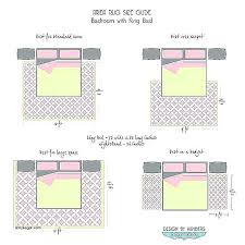 area rug size guide under king bed for living cal