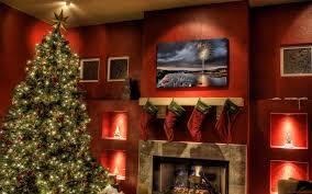 Living Room Christmas Christmas Living Room Natural Green And White Christmas Fireplace