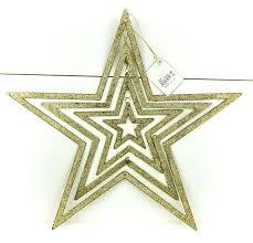 3 D Weihnachtsstern Gold Mit Glitter Kunststoff ø 395 Cm