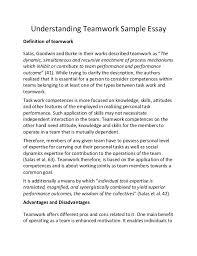 teamwork essay teamwork essay examples resume cv cover letter essays on teamwork comfuturobrorg view larger