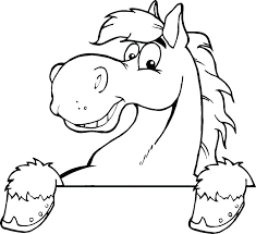 horse head coloring page pages printable
