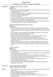 Clinical Liaison Resume Samples Velvet Jobs