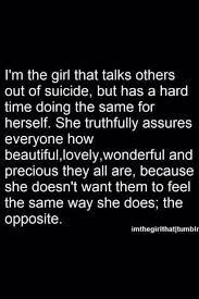 Suicidal Depression Quotes Girl Quote Text Depressed Depression Amazing Suicidal Qoute