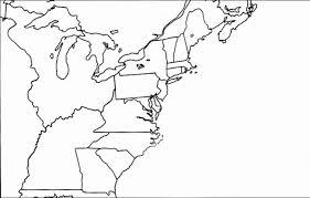 Blank Map Of 13 Colonies | My blog