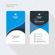 Flat 52841527 Stock Image Vectors Free Two Business Creative Modern And Sided Template Clean Royalty Card Illustration Cliparts