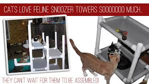 cat towers making cats happy custom towers cats love feline snoozer towers sooooooo much they can t wait for them to be
