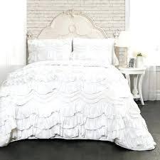 white ruffle bedding queen lush decor white ruffled trim 3 piece quilt set white ruffle duvet