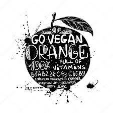 孤立したオレンジ色の果物のシルエットのイラスト ストックベクター