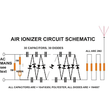build an air ionizer purifier circuit at home air ionizer purifier circuit diagram image
