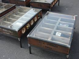 repurposed antique furniture. Old Wooden Grape Harvesting Boxes Called Lugs Repurposed Into Coffee Tables That Serve As Wine Racks. Eco Furniture At The Long Beach Flea Market Antique T