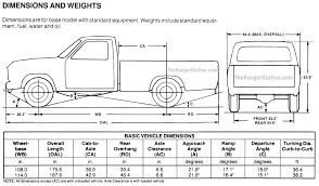 Cab To Axle Body Length Chart Ford Ford Ranger Dimensions The Ranger Station