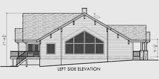 Ranch House Plan Featuring Gable RoofsHouse front drawing elevation view for Ranch House Plan featuring Gable Roofs