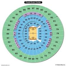 Erwin Center Seating Chart Luxury Frank Erwin Center Seating