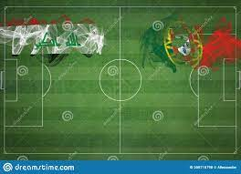 Iraq Vs Portugal Soccer Match, National Colors, National Flags, Soccer  Field, Football Game, Copy Space Stock Illustration - Illustration of iraq,  field: 200710798