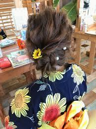 浴衣ヘアアレンジ 富山 美容師 湊谷健太 Hair Garden Rold Press
