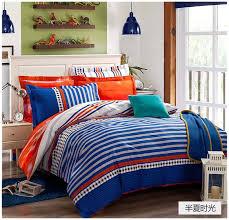 blue and orange comforter set bright bedding tokida for 1