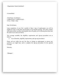 Staff Files Benefit Plan Letter