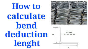 Sheet Metal Bend Deduction Chart How To Calculate Bend Deduction Lenght Of Bar