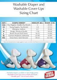 Dog Diaper Size Chart Coats Boots Halters Thunder Shirts Zen Dog Etc Sizing