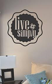 live simply vinyl wall art